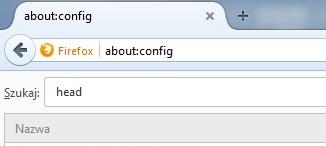 Konfiguracja przeglądarki FireFox